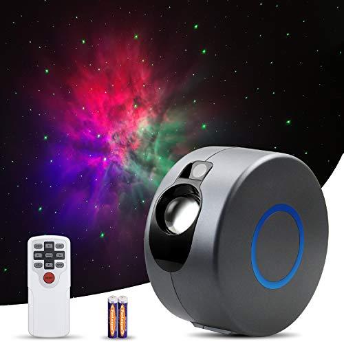 Samsion Star Proyector Galaxy Proyector de cielo estrellado nebulosa aurora, proyector de luz nocturna para recámara, techo, sala de juegos, cine en casa, relajante con mando a distancia, 7 colores, regalos para niños, adultos y novias