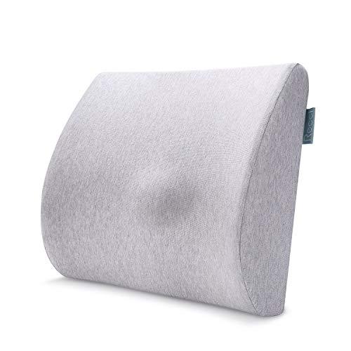 RECCI Cojin Lumbar - Almohada Lumbar para casa, Cama, Silla Oficina, Coche, Viaje - Almohada terapéutica de 100% Espuma de Memoria - Soporte Lumbar para sillones reclinables