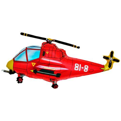 Folienballon Hubschrauber rot Folienballons
