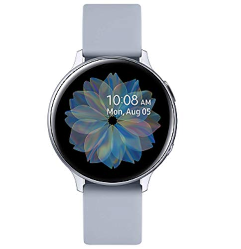 Samsung Galaxy Watch Active2 Explorer Edition, Fitnesstracker aus Aluminium, großes Display, ausdauernder Akku, wassergeschützt, 40 mm, inklusive 2x araree , LTE, Silber