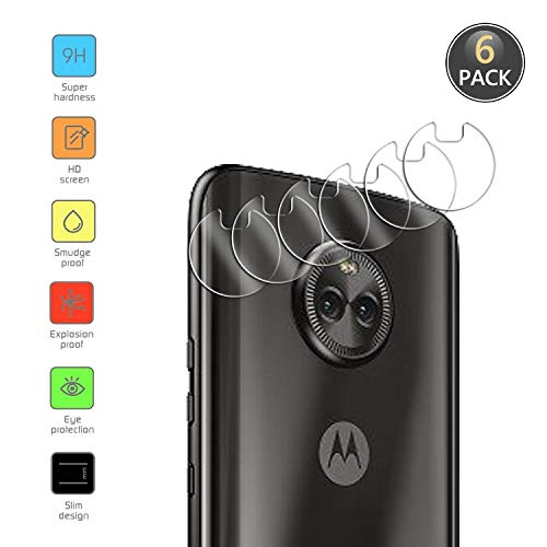 Owbb [6 Pezzi] Protettore Lente Fotocamera Posteriore per Motorola Moto X4 Smartphone Alta trasparenza 9H Durezza Posteriore Fotocamera Lens Film