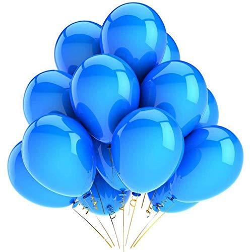 SFBBBO Globos de cumpleaños 10 Uds Globos de látex Fiesta de cumpleaños decoración de Boda Globo Inflable Aire niños Ducha Globo 12 Pulgadas Azul