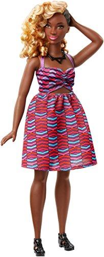Barbie- Fashionistas Doll 57 Zig & Zag-Curvy Bambola, Multicolore, DVX79
