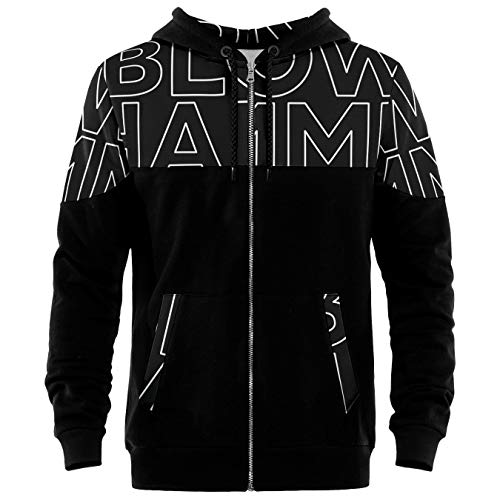 Blowhammer - Felpa Zip Up con Cappuccio - Black Sign SWH - XS