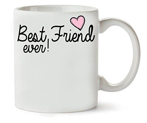 MugsWorld Best Friend Ever Heart Fashioned klassieke theekopje koffiemok