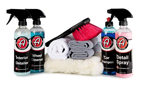 Adam's Most Popular Car Detailing Kit - Our Top Selling Products Bundled with The Perfect Companion Products - Professionally Detail Your Entire Vehicle with Expert Designed Washing Tools