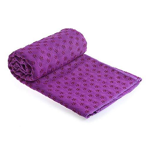Arbougstg Weiche bedruckte Yoga-Handtücher für Hot Yoga, PVC, Pflaumenblüte, Yoga-Handtuch, Sporthandtuch, schweißabsorbierendes Handtuch, violett, 183*63cm