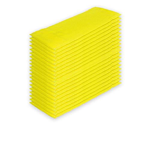 Filzada 20x mopa desechable de Microfibra 40 cm - Sin Bolsillos para Sistemas de Velcro (Velcro) - Más higiene A través de un Solo Uso