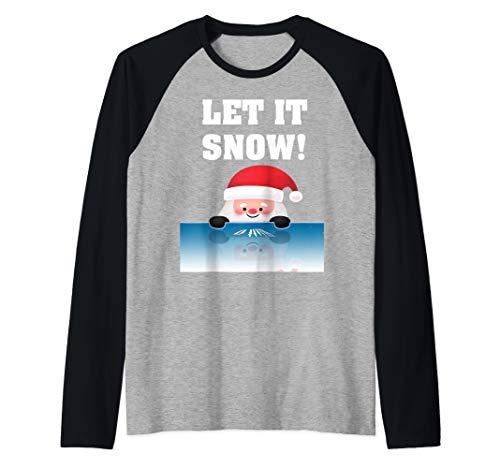 Let It Snow Santa Kokain Sweatshirt Geschenk Kokain Santa Raglan