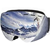 Tarent Skibrille mit Ultragroßes rahmenloses Design und 170° Neigung