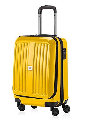 HAUPTSTADTKOFFER - X-Berg – Handgepäck Hartschalenkoffer Koffer Trolley, 55 cm, 42 Liter, TSA, Gelb
