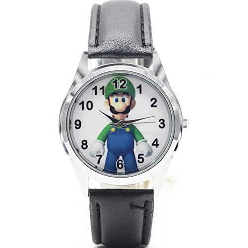 Mario Figura Horologe Mario Figura Luigi Reloj Cuarzo Niños Deportes Moda Dibujos Animados Reloj De Pulsera Niño Estudiantes Navidad Relogio Regalo Reloj