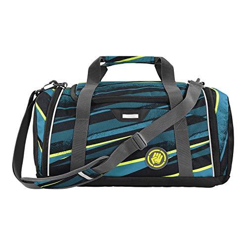 """Coocazoo Sporttasche SporterPorter """"Wild Stripe"""", blau, Nasswäschefach, Seitentasche, Schuhfach, Abnehmbarer, Verstellbarer Schultergurt, für Jungen ab der 5. Klasse, 20 Liter"""