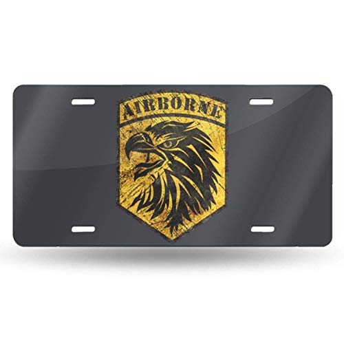 Cara King Skull Front Metal Aluminum License Plate Vanity car Tag Home Door Sign 6 x 12 with 4