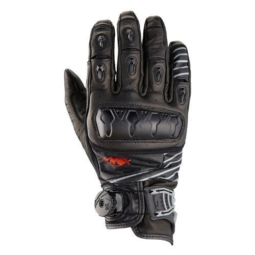 Knox Orsa Leder Sommer Kurze Stulpe Motorrad Handschuhe-XXL