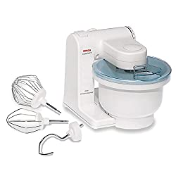 powerful Bosch MUM4405 Compact Stand Mixer, with swivel head and shield, 400W, 4 qt