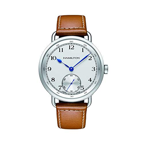 Hamilton Navy Pioneer Automatic White Dial Tan Leather Mens Watch H78719553