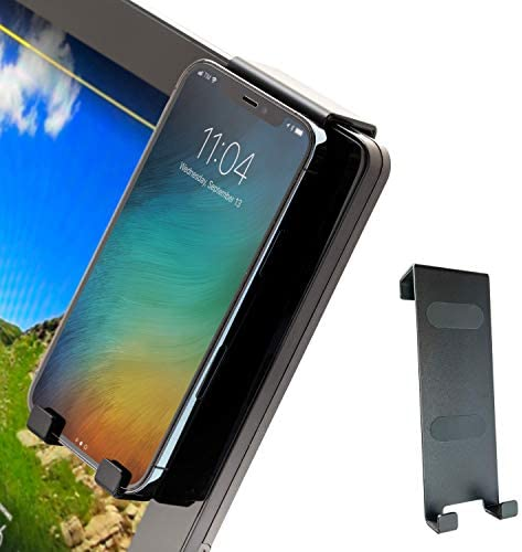 Aerow Phone Holder for Peloton Bike & Bike+ Cell Phone Mount – Hangs on All Spin Bike Monitors – Accessories for Peloton
