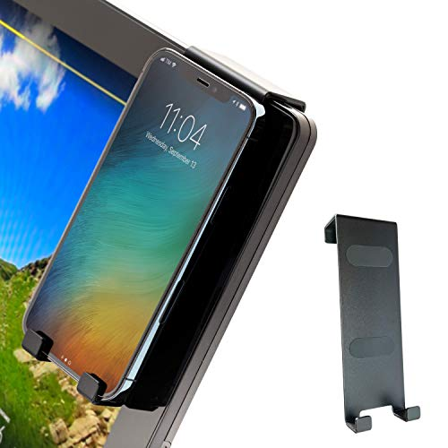 Aerow Phone Holder for Peloton Bike & Bike+ Cell Phone Mount - Hangs on All Spin Bike Monitors - Accessories for Peloton