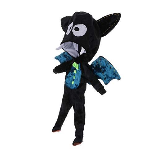 perfeclan Einteiliger Overall Jumpsuit Puppenkleidung für 1/6 BJD Blythe Puppen - Fledermaus