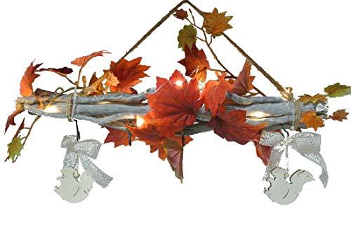 Dekozweig Herbst mit LED-Beleuchtung/Länge:50 cm/Höhe: 35cm
