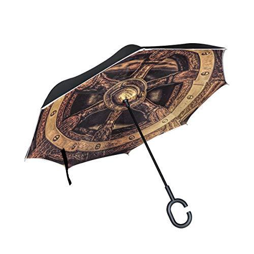 ISAOA Paraguas Plegable de Doble Capa, Paraguas de Auto de p