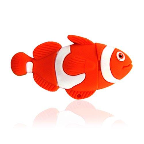 No50400040016 CHIAVETTA USB 16GB FLASH PENDRIVE ANIMALI PESCE ROSSO ARANCIONE 3D FIGURA