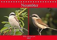 Neuntoeter - Kleiner Vogel, ganz gross! (Tischkalender 2022 DIN A5 quer): Der kleine, wunderhuebsche Vogel, benoetigt dringend unsere Hilfe! (Monatskalender, 14 Seiten )