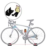 Clothink Bike Wall Mount Storage Hanger Bicycle Pedal Bike Rack Indoor Horizontal Holder Hanger Stand for Cycling