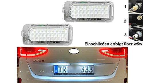 2x TOP LED SMD Kennzeichenbeleuchtung Nummernschildbeleuchtung (FKS1)