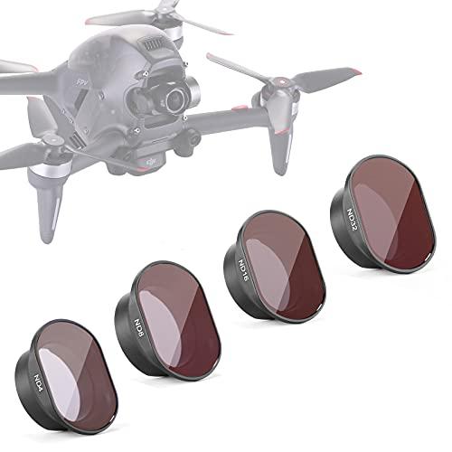 Neewer 4pezzi kit di filtri per DJI Mavic Pro drone quadricottero include: filtro ND4, ND8, ND16, ND32, in multistrato, telaio in lega di alluminio impermeabile vetro ottico (mc-16)