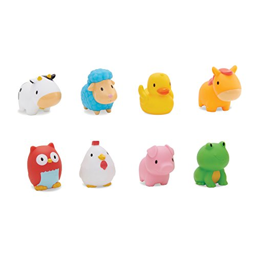 Munchkin Floating Farm Animal Themed Rubber Bath Squirt Toys