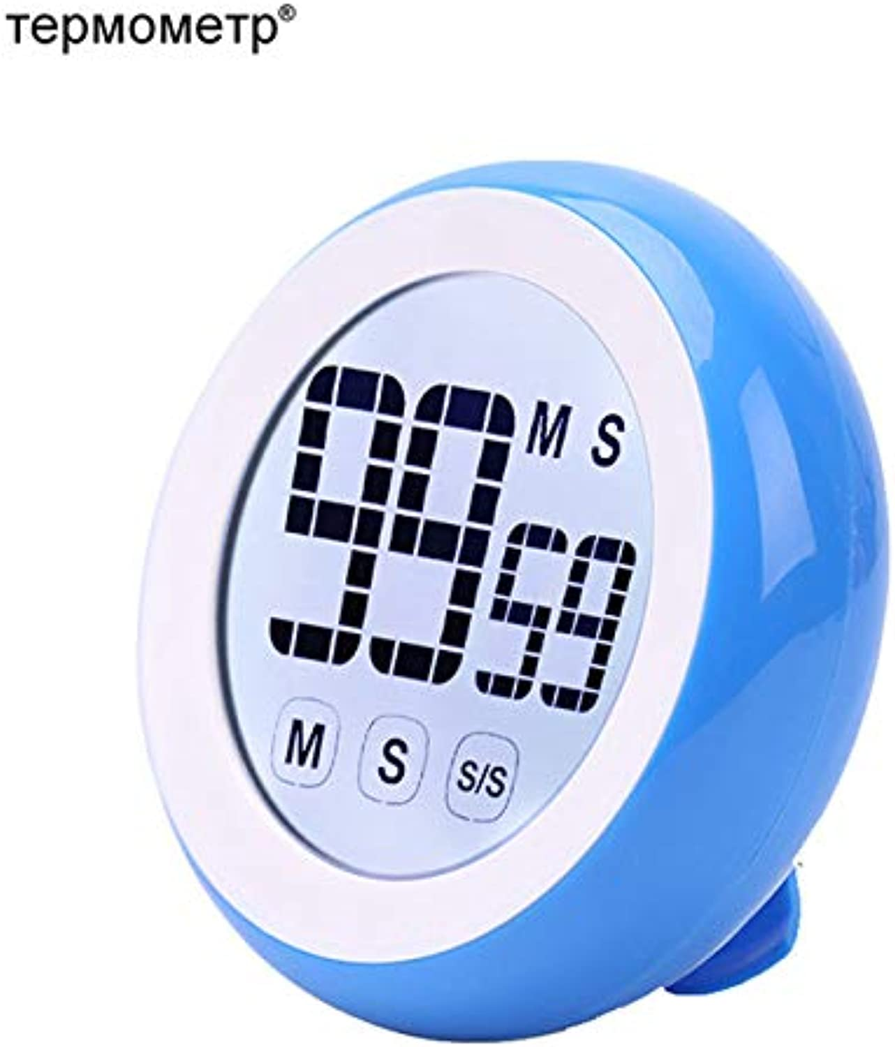 Gift Idea Touch Screen Digital Kitchen Cooking Timer Countdown Countup Magnetic LCD Timer Alarm Reminder colorful   bluee