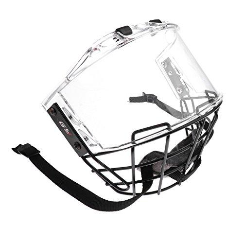 perfk Anti-Fog Anti-Kratzer Visier mit Gitter für Eishockeyhelm Eishockey Helm