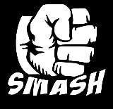UR Impressions Hulk Smash Aufkleber, Vinyl, für Autos, LKW, SUV, Vans, Wände, Laptop, 14 x 13 cm URI586-MW