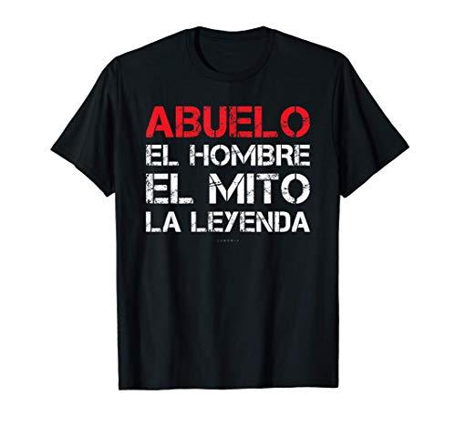 Hombre Camisetas Hombre Manga Corta Frases Regalo Abuelo La Leyenda Camiseta