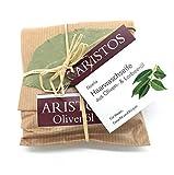 ARISTOS Haarseife mit Lorbeeröl (26,5%) und Sesamöl (20%) gegen Hautunreinheiten und Schuppen - 100g vegane Waschseife für die Haare für Damen und Herren aus 100% natürlichen Inhaltsstoffen