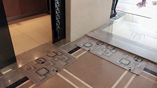 Non-Slip Kitchen Mat Rug Polyester Kitchen Floor Mat Doormat fiber with Rubber Backed Mat Slip Rug 18'' x 47.2'' +18'' x 30'' (Cat)