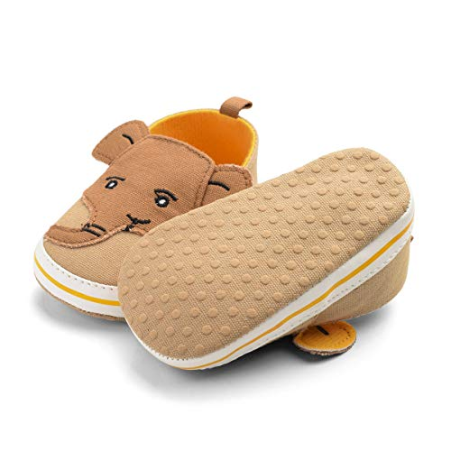Aulang Cartoon Elefant Leinwand Kleinkind Schuhe mit Anti-Rutsch Weiche Sohle Lauflernschuhe für Baby Säugling Jungen, - Khika - Größe: 12-18 Monate