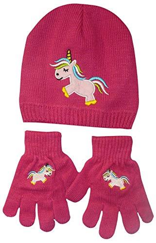 Mädchen-Einhorn-Mütze und Thermo-Handschuhe