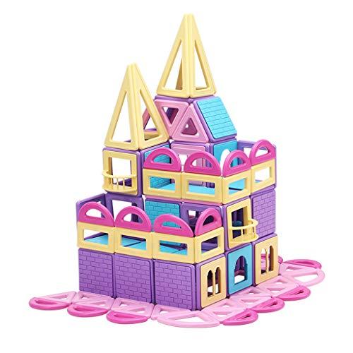 Briques de construction magnétiques, pièce magnétique pour enfants, puzzle, bloc de construction, combinaison d'assemblage 3-6-8 ans, garçons et filles, jouets, envoyer une boîte de rangement, 199 p