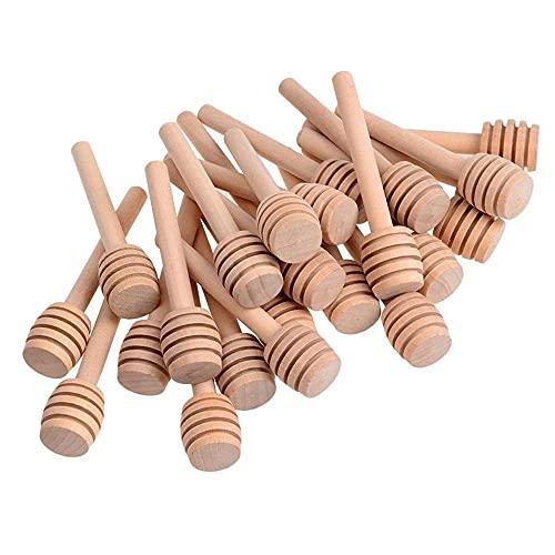 Paquete de 24 varillas extractoras de madera de 7,8 cm, envueltas individualmente para leche y café, miel, cuchara y herramientas de cocina