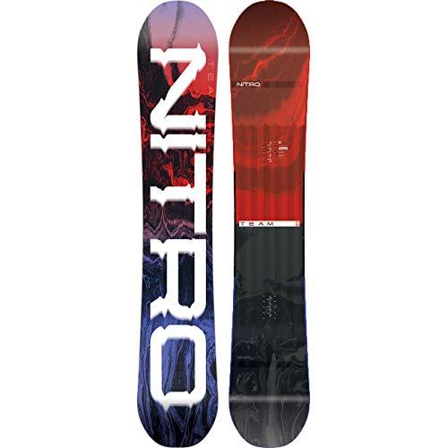 Nitro Snowboards Herren Team '19 vielseitiges All Mountain Snowboard Freestyle Freeride Directional Twin Standard Camber Board, 155