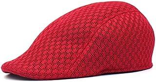 Dosige Gorro de boina Hombres,Boina de malla,Gorra Boina transpirable,Visera al aire libre Sombrero size 55-60cm Blanco