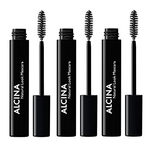 3er Natural Look Mascara 010 Black Dekorative Kosmetik Alcina Wimperntusche