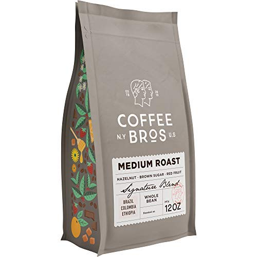 Coffee Bros., Medium Roast Whole Bean — 100% Arabica — 1 Bag (12oz) — Gourmet & Specialty — Great Holiday Gift