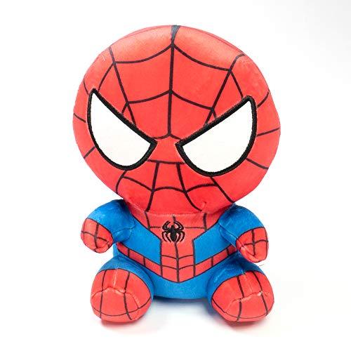 mini so Peluche de Spiderman Sentado, Chico - Producto Oficial Marvel. 27.43 X 17.02 X 11.68 CM