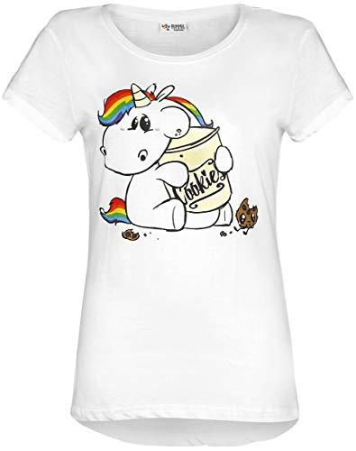 Pummeleinhorn T-Shirt weiß L-XL