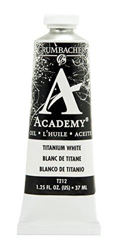 Grumbacher Academy Oil Paint, 37 ml/1.25 oz, Titanium White