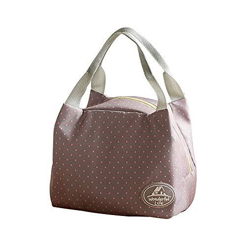 Fablcrew Sac Repas Lunch Bag Sac à Déjeuner Portable Isotherme étanche et Réutilisable pour Repas Pique-Nique Bureau (Gris Point)